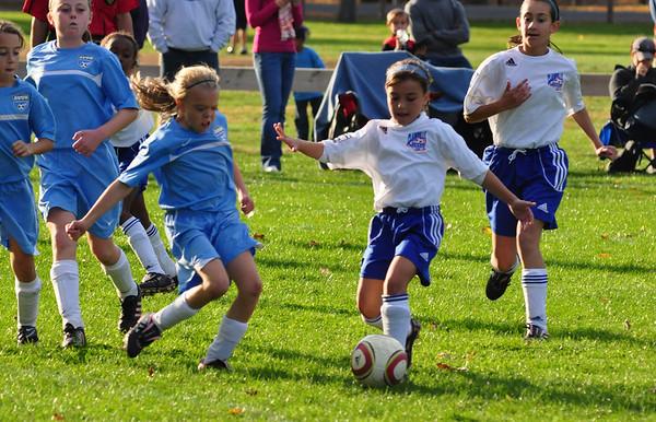 Plainville U-11 Girls Soccer 10/17/10