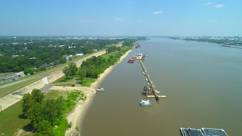 Aerial footage Water Heritage Trail Mississippi River