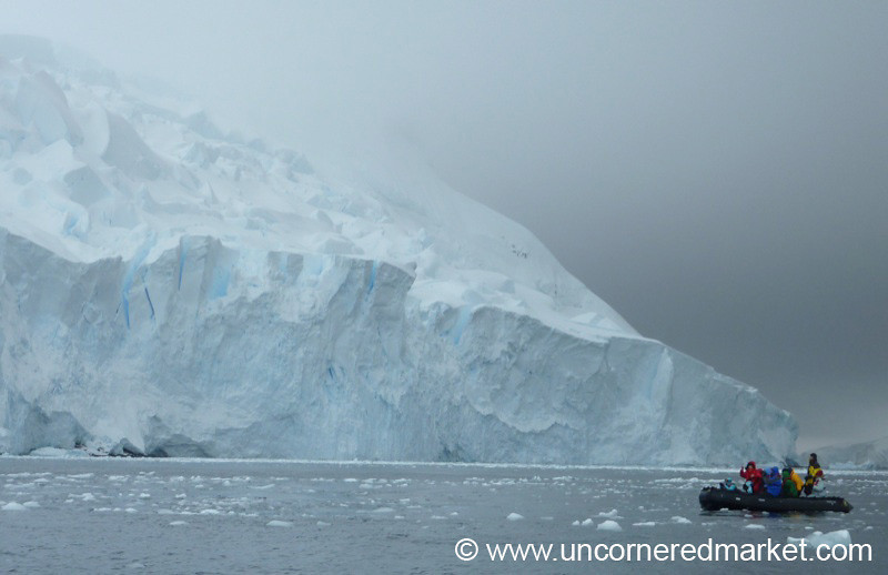 Zodiac Cruising Around Hanusse Bay - Antarctica