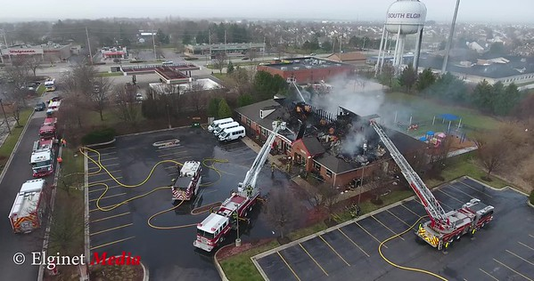 South Elgin FPD Early Morning Blaze at KinderCare March 29, 2017