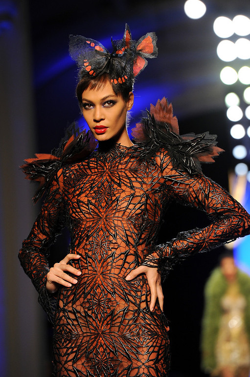 . Model Joan Smalls walks the runway during Jean Paul Gaultier show as part of Paris Fashion Week Haute Couture Spring/Summer 2014 on January 22, 2014 in Paris, France.  (Photo by Pascal Le Segretain/Getty Images)
