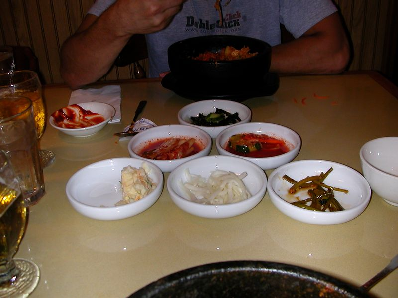 Kimchi and a lot of other good stuff!  16 June 2004
