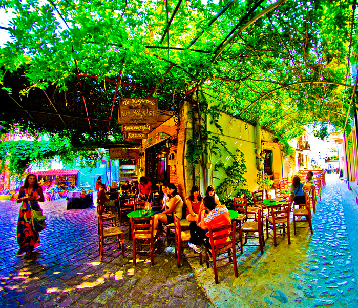 Agiasos Village (Αγιάσσος), Lesvos, Greece
