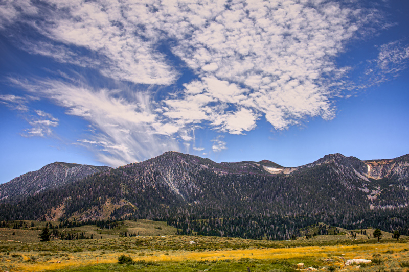September 1 - Sherwin Mountains with rare summer clouds, Mammoth Lakes, CA.jpg