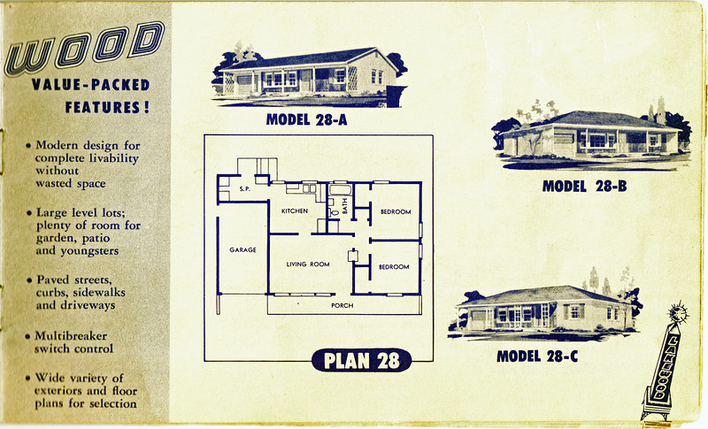 Lakewood Park, Floor Plans for Model 28 A, B, and C