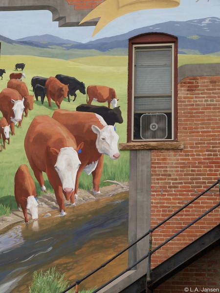Mural detail, Buffalo, Wyoming