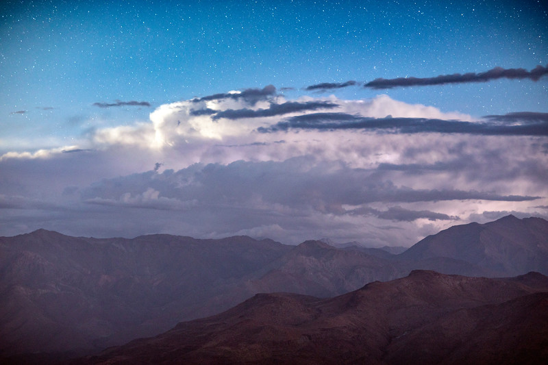 Andes Under Storm Clouds at Night