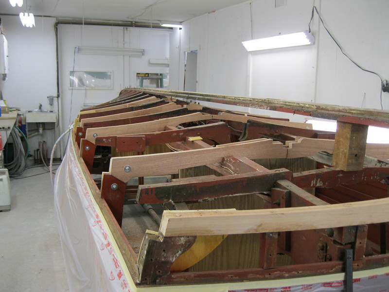 Starboard rear view of new frames.
