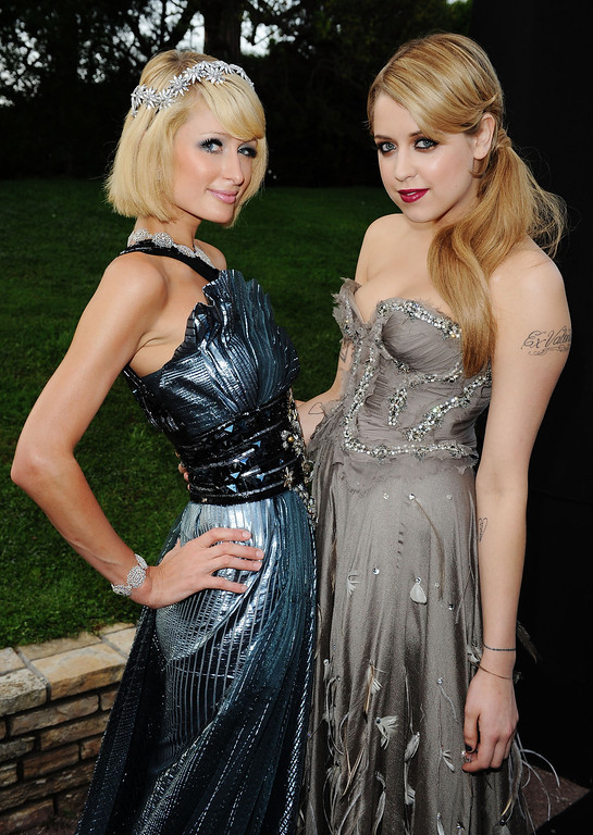 . Paris Hilton and Peaches Geldof arrives for the amfAR Cinema Against AIDS 2009 benefit at the Hotel du Cap during the 62nd Annual Cannes Film Festival on May 21, 2009 in Antibes, France.  (Photo by Pascal Le Segretain/Getty Images for amfAR)