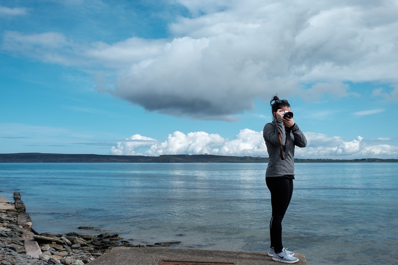 Victoria Photographing Castletown.