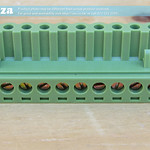 SKU: AE-BLOCK/508/10, Green Connector 5.08mm Pitch L-Type Top Feed 10 Way PCB Cable Terminal Block, 10Pin Plug in Screw
