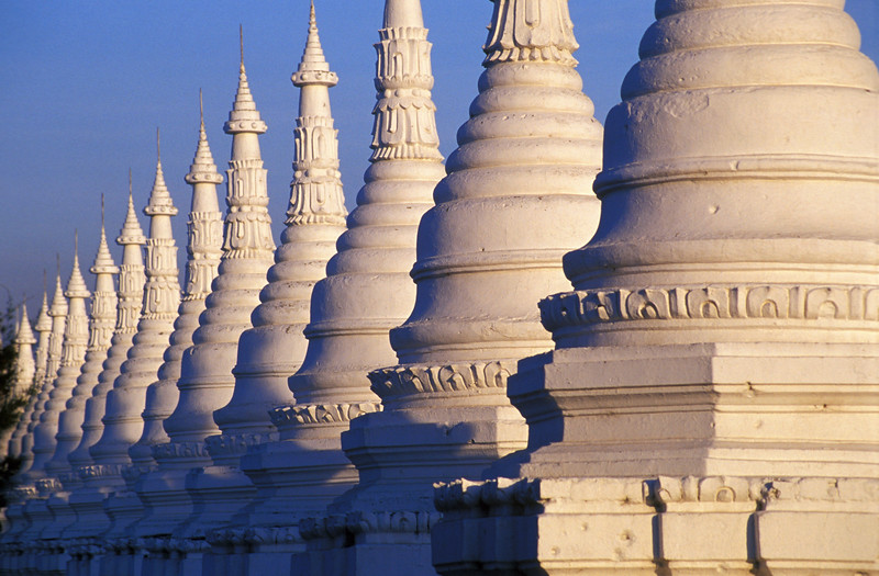 Stupas at Sandamuni Pagoda (Paya) in Mandalay, Burma (Myanmar)