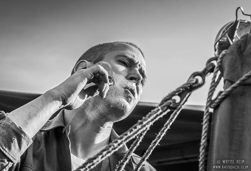 Shaving     Black & White Photography by Wayne Heim