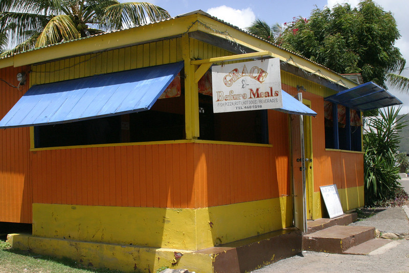 We ate lunch at a local restaurant in English Harbour, Antigua, BVI.