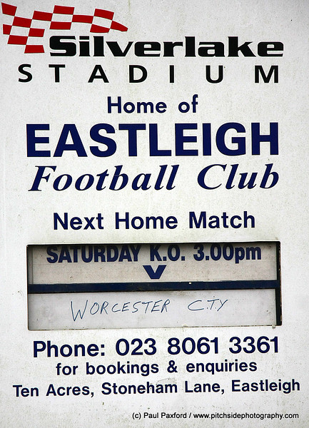 Eastleigh 3 Worcester City 3 FA Trophy  15/1/11