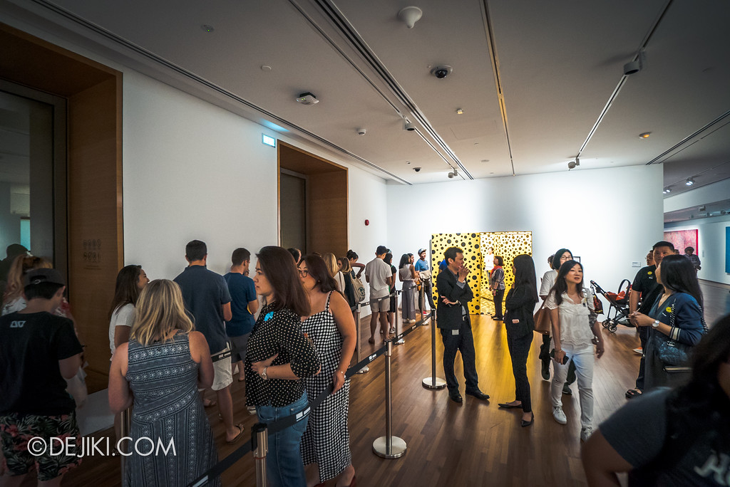 National Gallery Singapore - Yayoi Kusama: Life Is The Heart of A Rainbow / Pumpkins installation queue
