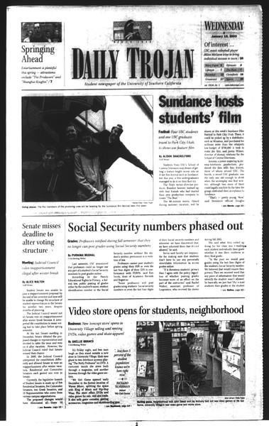 Daily Trojan, Vol. 148, No. 2, January 15, 2003