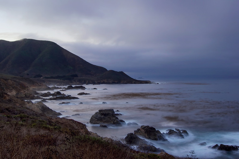 Early morning view along the California Coast