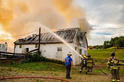 08-24-18 Walhonding FD Barn Fire