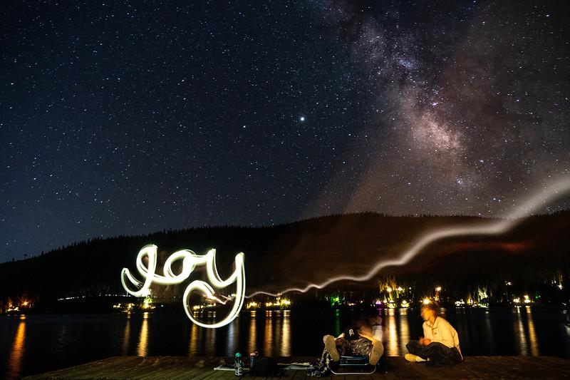 Donner Lake Milky Way