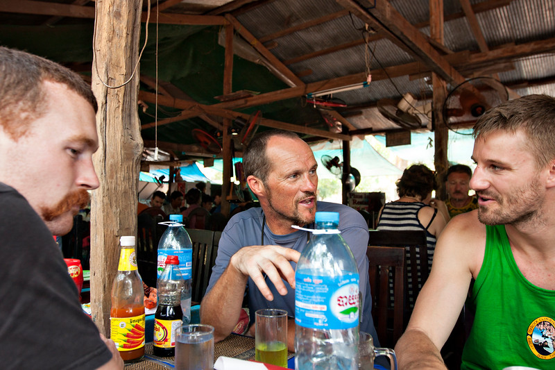 After Bayon, we stopped at our tuk tuk driver's wife's restaurant. She was number 33. And she made amazing food.