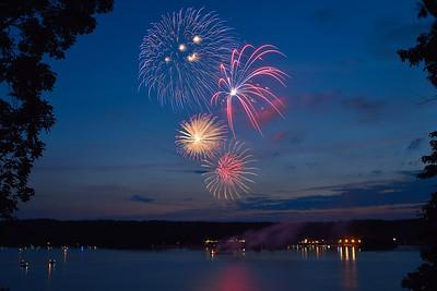 Claytor Lake Fireworks - 8 June 2013
