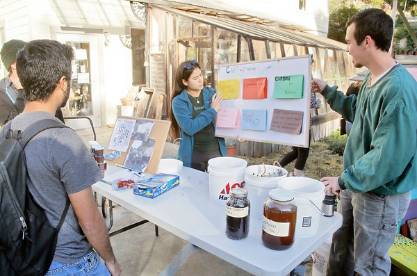 Photos: Waste reduction group talks compost at HSU