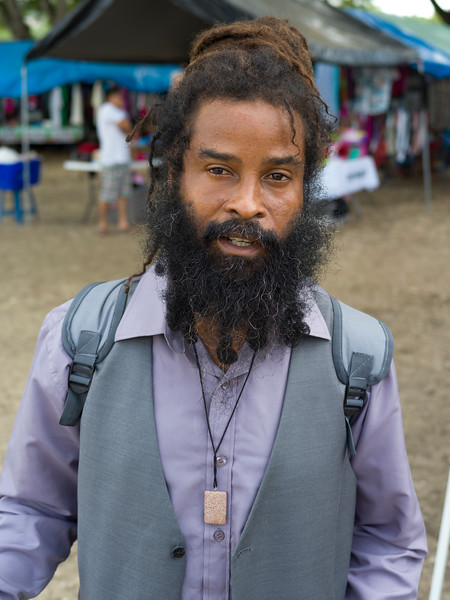 Portrait of bearded man, San Ignacio, Belize