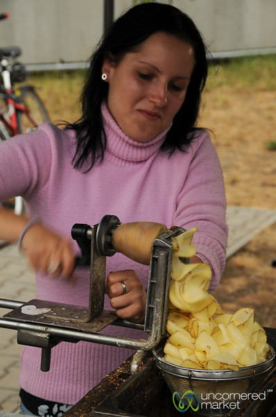 Fresh, Curly Potato Chips - Klanovice (Prague), Czech Republic