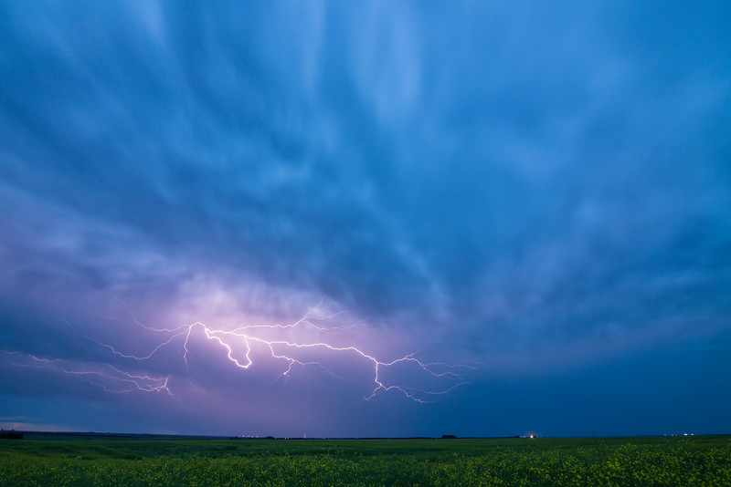 Electric Sky - Near Outlook, Saskatchewan