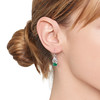 2.00ctw+ Emerald and Diamond Art Deco Conversion Earrings 1