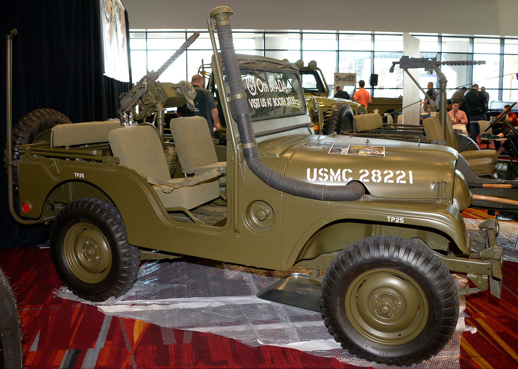 . Nov 6,2013 Las Vegas NV. USA. Off road success center displays many old WW II Jeeps during the second day of the 2013 SEMA auto show. Photo by Gene Blevins/LA Daily News