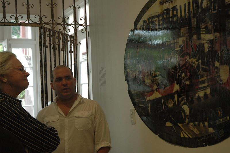 Linda with artist Kadir (Lopez) - Leslie Rowley