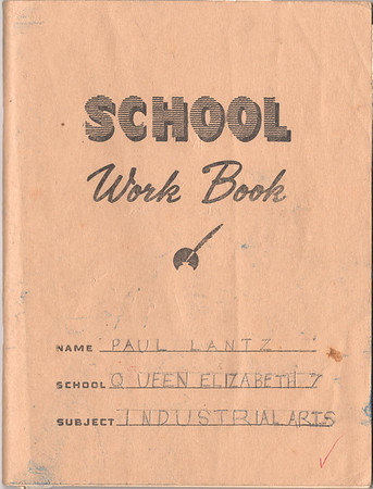 Industrial Arts Notebook 1964 - 1965