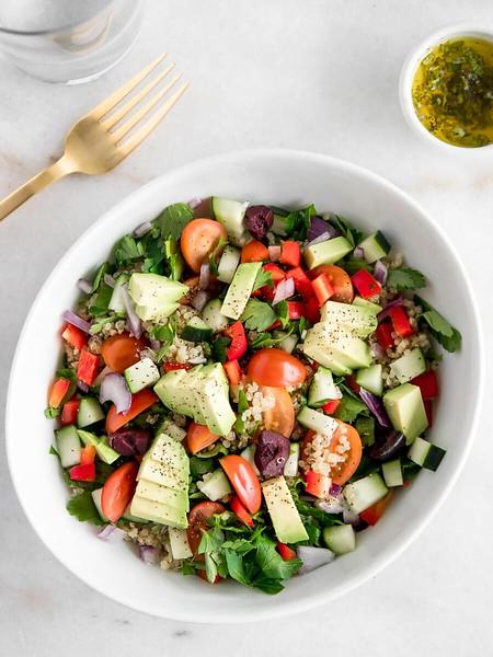 Mediterranean Quinoa Salad - Vegan Greek Recipes