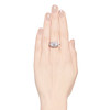 1.64ctw Vintage Princess Style Oval Cluster Ring 2