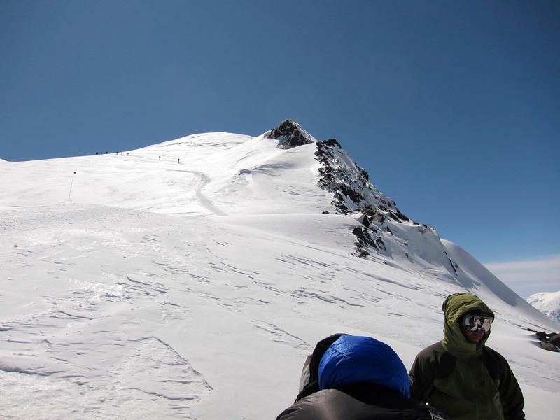 Above Denali Pass ...