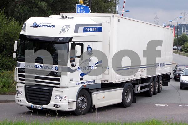 Trucks in France Le Havre Sept 2014