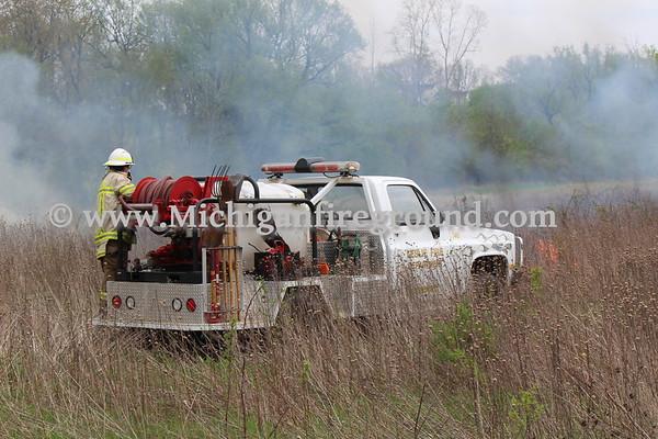 5/9/18 - Leslie field fire, 1800 block of Kinneville Rd