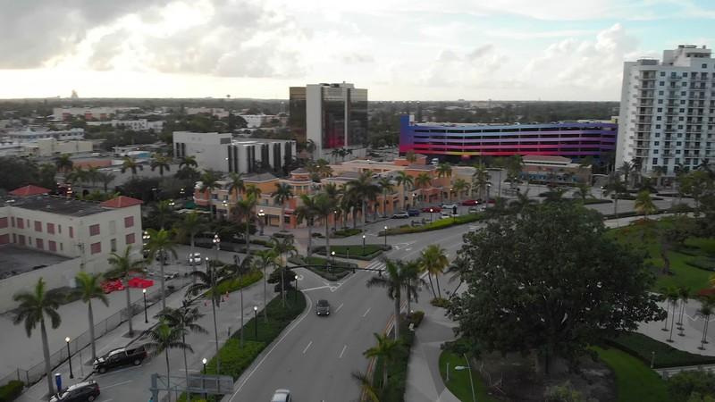 Yougn Circle Hollywood Florida aerial