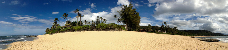 May 3, 2013 180 degree Panorama Sunset Point, North Shore of Oahu