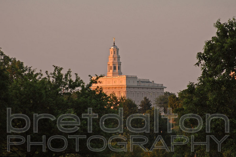 Nauvoo Temple as the leaving saints would have seen it.