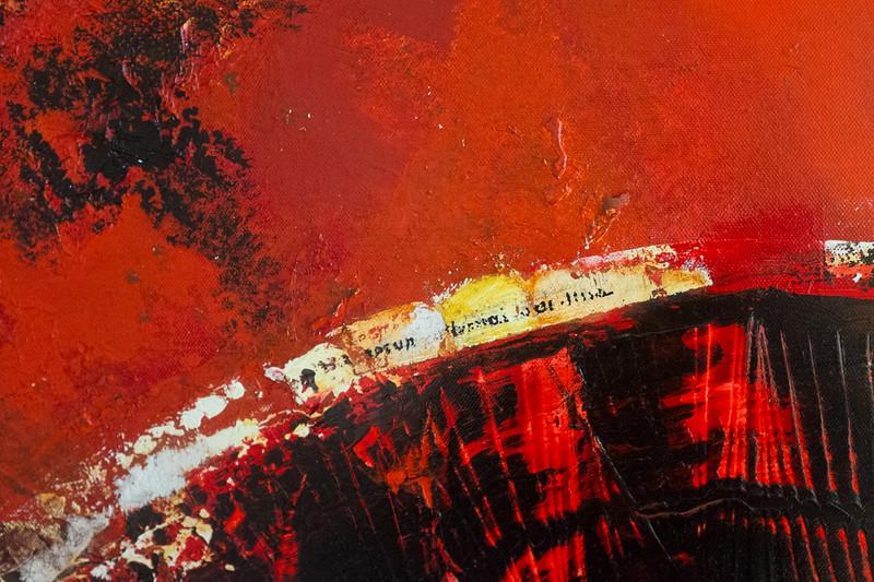 Achter de kleur (detail) mixed media op doek 100x100 cm € 2.100,00 via de kunstuitleen € 21,00 per maand