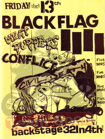 Black Flag - Meat Puppets - Conflict