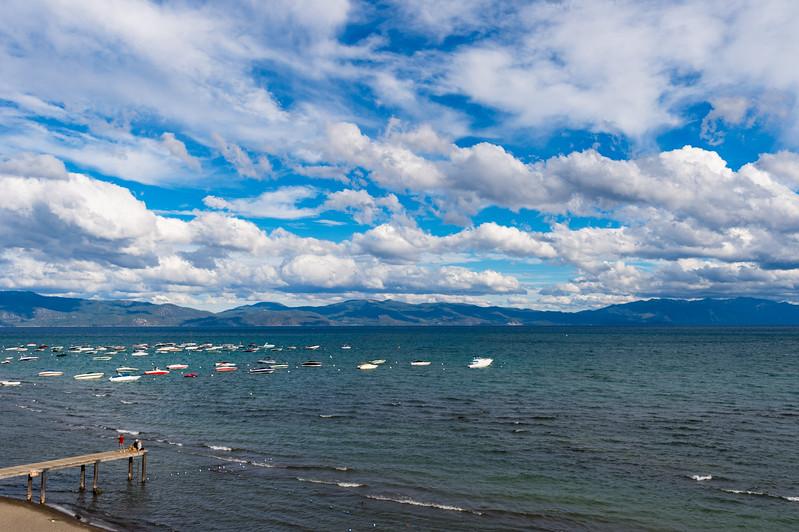 Pier and Lake Tahoe, Tahoe City