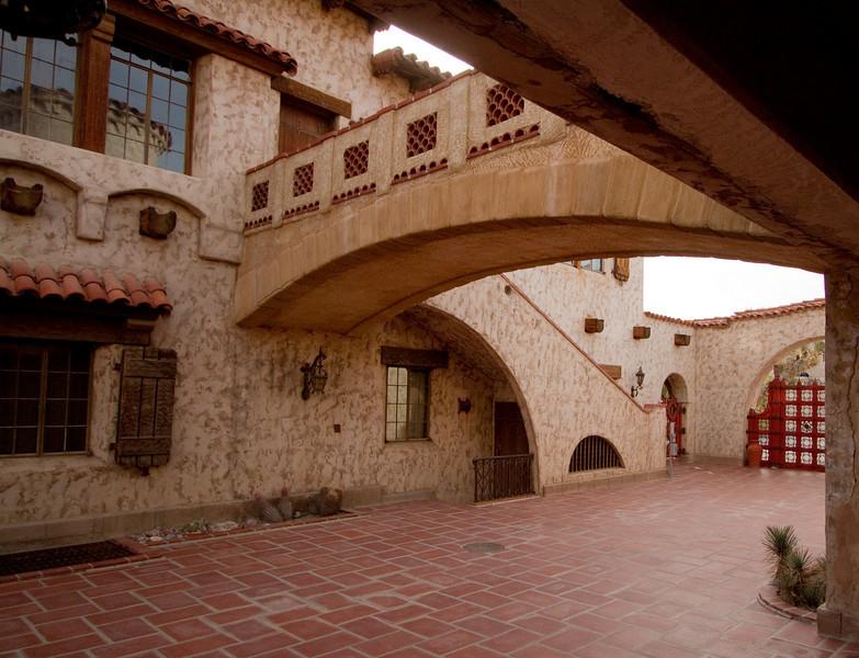 Courtyard, Scotty's castle.