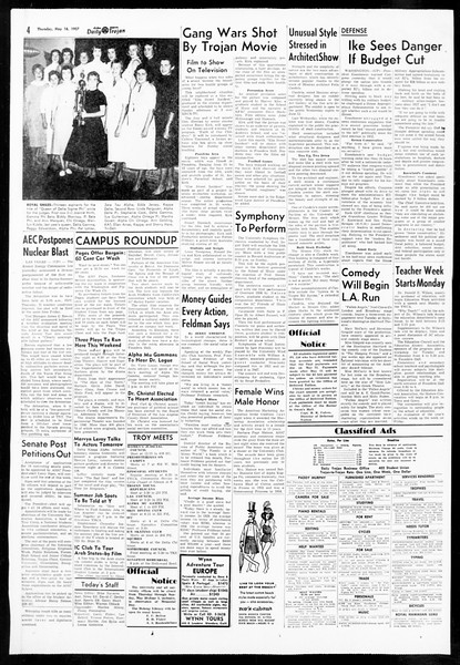 Daily Trojan, Vol. 48, No. 132, May 16, 1957