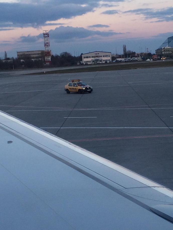 taxi on runway bucharest otp airport