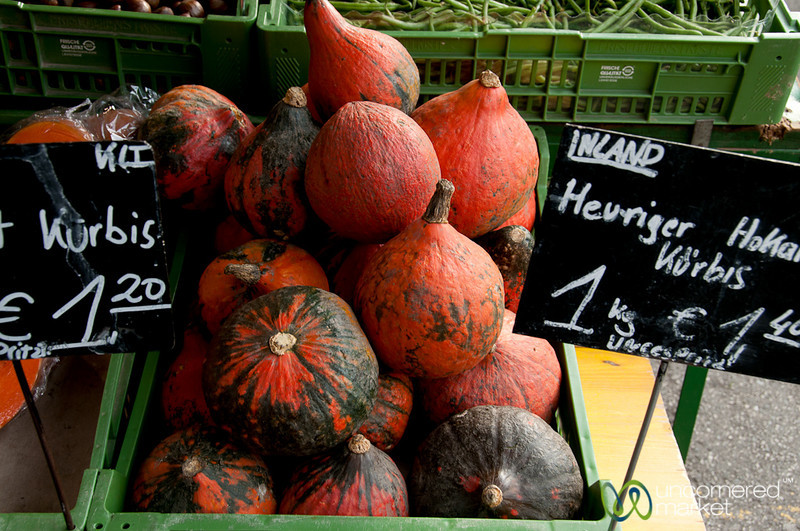 Autumn Pumpkins at the Naschmarkt - Vienna, Austria