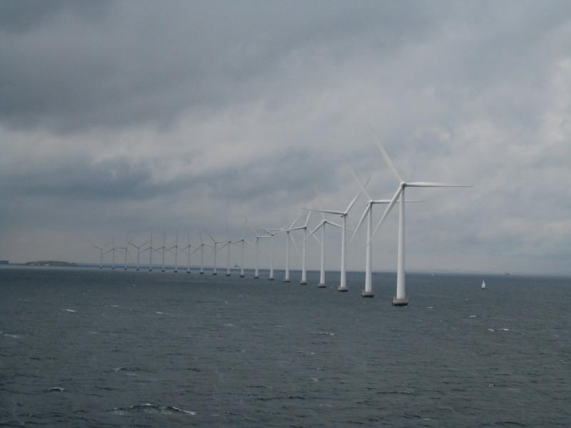 Wind generators in Copenhagen harbor